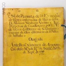 Manuscritos antiguos: MANUSCRITO ESS. DE PERMUTA DE 28 F. AÑO 1714. Lote 195122703