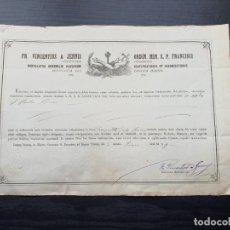Manuscritos antiguos: CERTIFICADO DE AUTENTICIDAD DE RELIQUIA OSEA DE SANTA PAULA 1849. . Lote 195185031