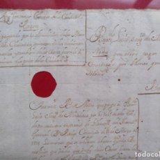 Manuscritos antiguos: BARCELONA. DOCUMENTO MANUSCRITO ENMARCADO DEMOLICION MURALLAS VIEJA CIUDADELA BARCELONA 1718. Lote 195186031