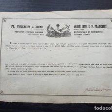 Manuscritos antiguos: CERTIFICADO DE AUTENTICIDAD DE RELIQUIA DE LAS CENIZAS DE SANTA CATALINA DE B. 1849.. Lote 195189465
