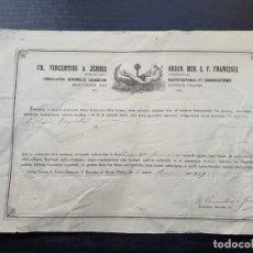Manuscritos antiguos: CERTIFICADO DE AUTENTICIDAD DE RELIQUIA DE LAS CENIZAS DE SAN EURICO. 1849.. Lote 195190038