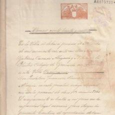 Manuscritos antiguos: 1906 SORBAS (ALMERIA) FISCAL11º 1 PTS DOCUMENTO MANUSCRITO RENUNCIAHERENCIA. Lote 195224658