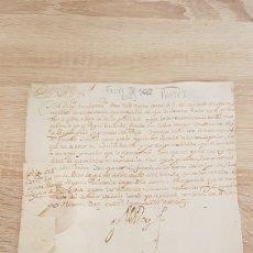 Manuscritos antiguos: FIRMA REAL FELIPE IV. REGULACIÓN DE PEAJES. AÑO 1663. MENCIONA ORIHUELA Y ALICANTE.. Lote 195259493