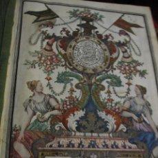 Manuscritos antiguos: BELLÍSIMA EJECUTORIA DE 1738.APELLIDOS: GONZALEZ, QUIJANO, CAMPUZANO Y LAGO. 2 HOJAS MINIADAS . Lote 195269981