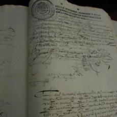 Manuscritos antiguos: LEGAJO DEL S. XVII CON BONITOS DOCUMENTOS.PAPEL CON DIVERSOS SELLOS. 1638 Y OTROS. BELLA CALIGRAFIA. Lote 195271917