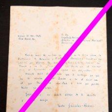 Manuscritos antiguos: CESAR GONZALEZ RUANO - CARTA MANUSCRITA - A LUYS SANTAMARINA. Lote 195275885