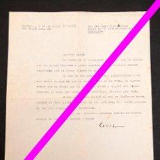 Manuscritos antiguos: CESAR GONZALEZ RUANO - CARTA AUTÓGRAFA- A LUYS SANTAMARINA. Lote 195275943