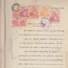 Manuscritos antiguos: 1950 NAQUERA VALENCIA FISCAL 2º 75 PTS SERIE 1940-55 DOCUMENTO HERENCIA MERELO MAS. Lote 195318868