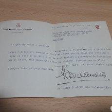 Manuscritos antiguos: CARTA DEL PRESIDENTE DEL CONSEJO ECONOMICO SINDICAL DE GUIPUZCUA-SAN SEBASTIÁN 1955 FALANGE. Lote 195337270