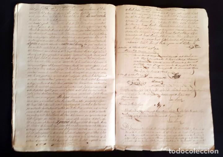 Manuscritos antiguos: POBLE SEC - FON TROBADA - MONTJUIC - BARCELONA - 1837 - ESCRITURAS - JAUME SABAT - Foto 6 - 195339848