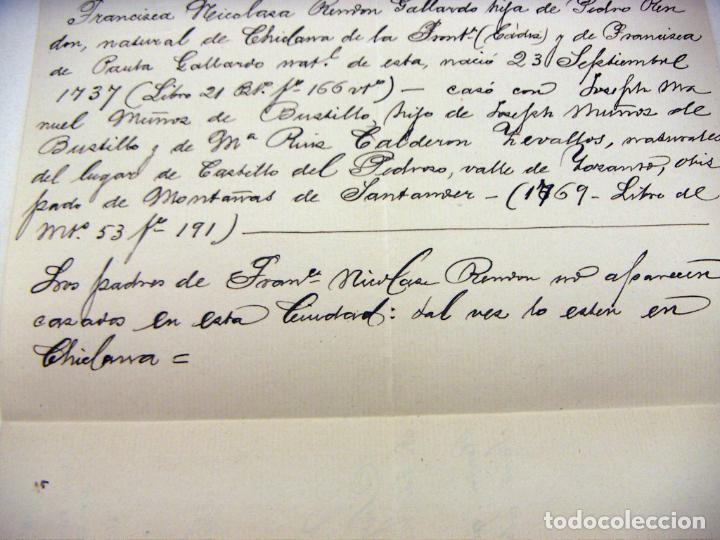 Manuscritos antiguos: DOCUMENTO DEL CURA DE SANTA MARIA LA CORONADA MEDINA SIDONIA 1915 - Foto 2 - 195379486