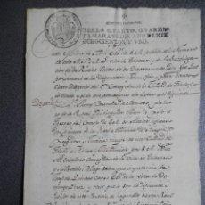 Manuscritos antiguos: MANUSCRITO AÑO 1801 FISCALES 4ºS TALAVERA DE LA REINA REAL PROVISIÓN. Lote 195410968