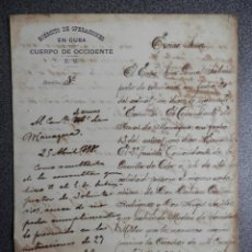 Manuscritos antiguos: GUERRA DE CUBA Y ESCLAVOS VOLUNTARIOS EN EL EJÉRCITO MANUSCRITO AÑO 1898 CUBA. Lote 195411222