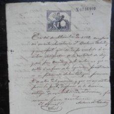 Manuscritos antiguos: ESCLAVITUD CUBA MANUSCRITO AÑO 1882 EXPEDIENTE LIBERTAD ESCLAVO. Lote 195412986