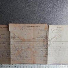 Manuscritos antiguos: GUERRA CUBA TELEGRAMA AÑO 1896 ATAQUE FERROCARRIL SE QUEDAN SIN MUNICIÓN - DESCARRILA. Lote 195413351