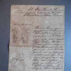 Manuscritos antiguos: RARO PASAPORTE PARA IR DE SIERRA LEONA A CUBA AÑO 1860. Lote 195413633