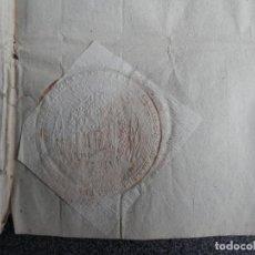 Manuscritos antiguos: SELLO LACRE ARZOBISPO ZARAGOZA MANUSCRITO 1803 FISCAL 3º CARIÑENA LONGARES. Lote 195413952