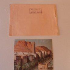 Manuscritos antiguos: MANUSCRITO POSTAL DEL PINTOR PEREZ GIL DE ALICANTE AL PINTOR JOSÉ GÁLVEZ DE JACARILLA EN 1991. Lote 195436040