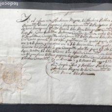 Manuscritos antiguos: MANUSCRITO DEL ARCHIVERO MAYOR DE LA COMUNIDAD DE SANTA MARÍA DEL MAR, SELLO EN SECO BARCELONA 1736.. Lote 195705813