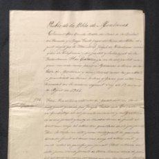 Manuscritos antiguos: MANUSCRITO DE LA POBLA DE MONTORNES ALCALDE LA BISBAL DEL PENEDES 1721 CLIMENT PERE BUNDO. TARRAGONA. Lote 195714303