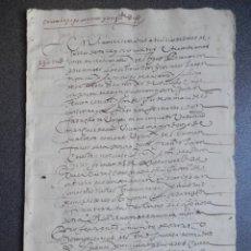 Manuscrits anciens: MANUSCRITO AÑO 1630 MADRID CARTA DE PAGO A FAVOR CONVENTO STO DOMINGO EL REAL BONITA LETRA. Lote 195776885