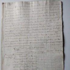 Manuscrits anciens: MANUSCRITO DE TALAVERA JOSEPH ANTONIO DE MORENO DE RIVERA. HERMITA DE NUESTRA SEÑORA DEL PRADO 1782. Lote 196358907