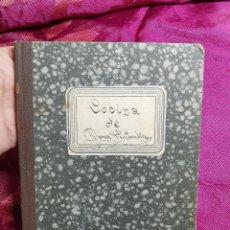 Manuscrits anciens: RECETARIO ANTIGUA LIBRETA MANUSCRITA DE CON 84 RECETAS DE COCINA. TARRAGONA. Lote 196793451