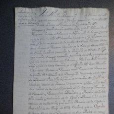 Manuscritos antiguos: MANUSCRITO AÑO 1749 PEDRAZA - MADRID PODER NOTARIAL. Lote 196812428