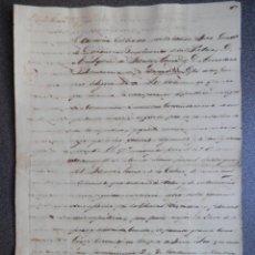 Manuscritos antiguos: MANUSCRITO AÑO 1841 REVOLUCIÓN MEJICANA CONVENIO RENDICIÓN DEL GOBIERNO A SUBLEVADOS. INTERESANTE.. Lote 196813878