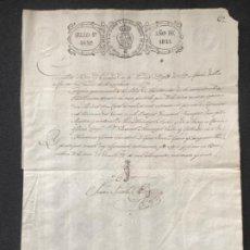 Manuscritos antiguos: MANUSCRITO DE LA PARROQUIA SANTA MARÍA DEL MAR, BARCELONA. ISABEL II 1841. PAPEL SELLADO. FIRMA. . Lote 196823705