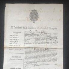 Manuscritos antiguos: MANUSCRITO 1891-1896 AUDIENCIA TERRITORIAL DE ZARAGOZA PENA DE CÁRCEL. VILAFRANCA DEL PENEDES. . Lote 196824292
