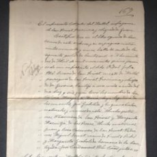 Manuscritos antiguos: MANUSCRITO DE SANT PRIVAT MALLOL GIRONA OBISPADO 1922. . Lote 196826915