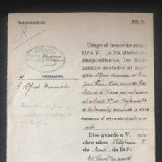 Manuscritos antiguos: MANUSCRITO DE LA GUARDIA CIVIL DENUNCIA VILAFRANCA DEL PENEDES 1926. . Lote 196827650