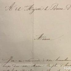 Manuscritos antiguos: CARTA DEL ARQUITECTO DEL LOUVRE GUILLOT A LA REINA MARIA CRISTINA. 1841. Lote 197027252