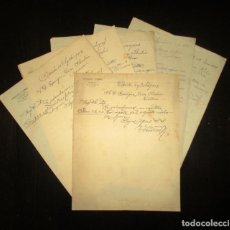 Manuscritos antiguos: BANCO HERRERO, OVIEDO. SIETE DOCUMENTOS MANUSCRITOS FECHADOS DE 1905 A 1909.. Lote 197031978