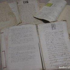 Manuscritos antiguos: CONJUNTO DE MANUSCRITOS ESCRITURAS COMPRA VENTA TIERRAS EN CASTRILLO DE RIOPISUERGA BURGOS PALENCIA. Lote 197311636
