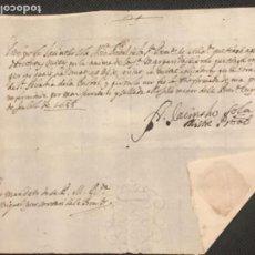 Manuscritos antiguos: MANUSCRITO DE 1688 VIC SELLO DE LACRE.. Lote 197456788