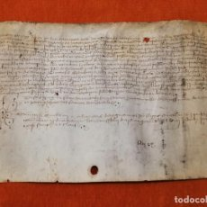 Manuscritos antiguos: PERGAMINO MANUSCRITO ANTIGUO. AÑO 14?7 (PROBABLEMENTE 1497) ORIGINAL. SOLANELL-ALT URGELL. Lote 221531678