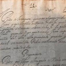 Manuscritos antiguos: MANUSCRITO 1628. IMPUTACIÓN POR DESFLORAR A MARIA, QUE LE ABRÍA LA PUERTA BAJO PALABRA DE CASAMIENTO. Lote 197547226