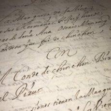 Manuscritos antiguos: CIRCA 1635. MANUSCRITO ALEGACIÓN CONDE DE CHINCHÓN VIRREY DEL PERÚ CON MARQUESA DE SALINAS.. Lote 197640577