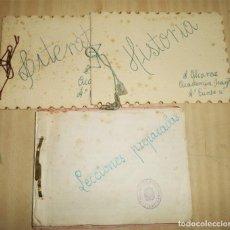 Manuscritos antiguos: 3 CUADERNOS MANUSCRITOS PRACTICAS DE MAGISTERIO COLEGIO DE BENICALAP VALENCIA 1960 / 1962 . Lote 197788018
