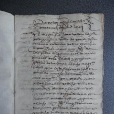 Manuscrits anciens: MANUSCRITO AÑO 1571 JÉRICA CASTELLÓN ESCRITO EN VALENCIANO 15 PÁGS. Lote 197846240