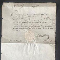 Manuscritos antiguos: MANUSCRITO DEL VICARIO DE ALCALÁ 1819 DONACIÓN DEL CONDE DE FUENTES A LA PARROQUIA POR LA CUARESMA. . Lote 197974280