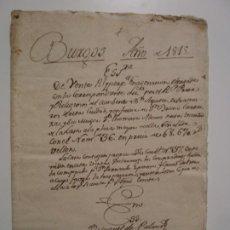Manuscritos antiguos: BURGOS 1815. ESCRITURA DE VENTA POR EL PADRE PRIOR Y RELIGIOSOS DEL CONVENTO DE SAN AGUSTÍN. Lote 198049411