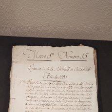 Manuscritos antiguos: REAL CARTA EJECUTORIA DE LA CHANCILLERIA DE VALLADOLID. AÑO 1591. S. XVI. Lote 198057171