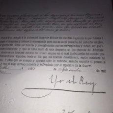 Manuscritos antiguos: NOMBRAMIENTO ALFONSO XIII CAPITÁN DE INFANTERÍA. BILBAO, 6 DE SEPTIEMBRE DE 1906.. Lote 198084918