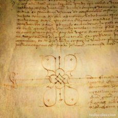 Manuscritos antiguos: POSESIÓN OTORGADA POR RIEMBAU DE CORBERA A SU MUJER BEATRIZ. PERGAMINO. CATALUNYA. ESPAÑA. 1445. Lote 198318855