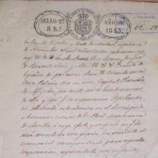 Manuscritos antiguos: CARTA MANUSCRITA EN LA QUE EL DUQUE DE ALBA PIDE ADMISION EN REAL MAESTRANZA DE SEVILLA, 1.843. Lote 198369101