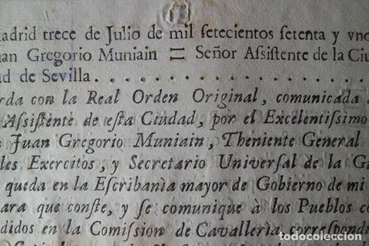 Manuscritos antiguos: REAL ORDEN, CRIA DE CAVALLOS DE RAZA, AÑO 1.771 - Foto 4 - 198614731