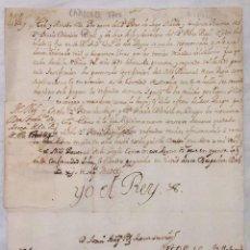 Manuscritos antiguos: FIRMA REAL FELIPE V CONCEDIENDO 1.050 LIBRAS POR TERCIAS VENCIDAS. AÑO 1700. Lote 198688490